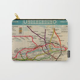 London Undergroud Map 1910 Carry-All Pouch