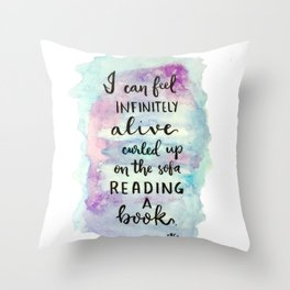 Cumberbatch Quote Throw Pillow