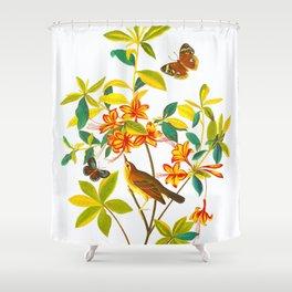 Vintage Floral Illustration Shower Curtain