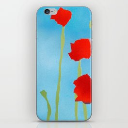 Poppies tall iPhone Skin