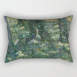 "Vincent Van Gogh ""Trees and undergrowth"" Rectangular Pillow"
