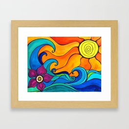 Good Vibes and High Tides Framed Art Print