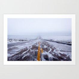 Endless Icy Road Art Print