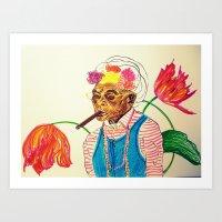 cuba Art Prints featuring Cuba by Ela Caglar