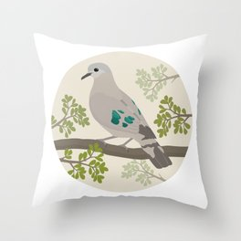 Emerald-spotted Wood-dove Throw Pillow