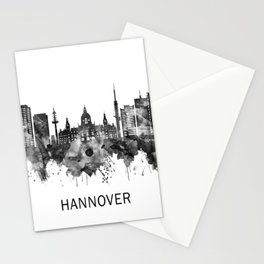 Hanover Germany Skyline BW Stationery Cards