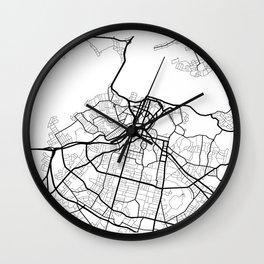 Minimal Maps - Auckland Wall Clock
