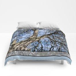 WINTER PEAR TREE Comforters