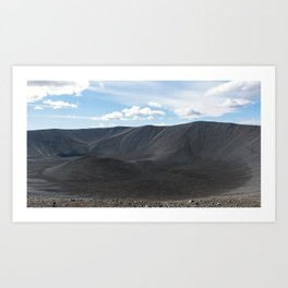 Hverfjall volcanic crater in Iceland Art Print