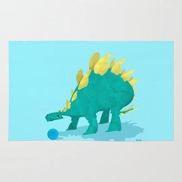 Stegosaurus and his Ball Rug