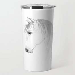 Inquisitive - Horse Art by Annette Bailey Travel Mug
