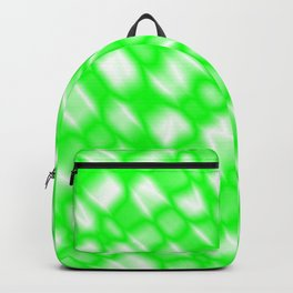 Splashes of paint in a green diagonal with cracks on the plastic film. Backpack