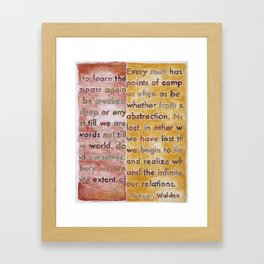Walden, from The Geography Series Framed Art Print