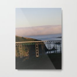 And then the fog rolled in.... Metal Print