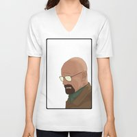 gta v V-neck T-shirts featuring GTA Walter White by dbarroso