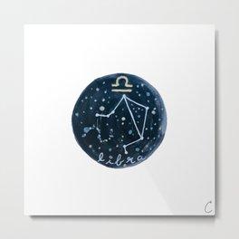 Libra Zodiac Astrology Design Metal Print