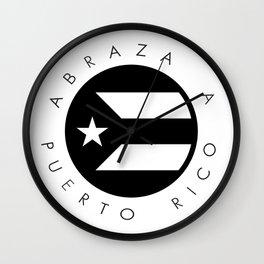 Abraza A Puerto Rico Wall Clock