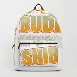 Shiba Inu Drinking Buddy Hashtag Designated Doggo Backpack