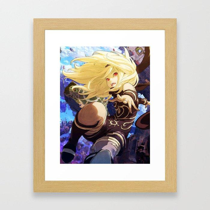 Gravity Rush 2 Framed Art Print