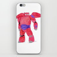 baymax iPhone & iPod Skins featuring baymax  by Art_By_Sarah
