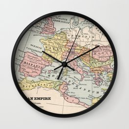 Vintage Map of The Roman Empire (1882) Wall Clock