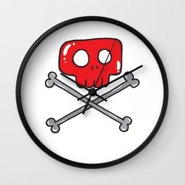 Cute little pirate sign Wall Clock