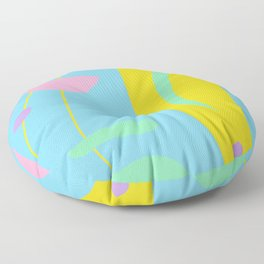 Colorful Abstract Shapes Floor Pillow