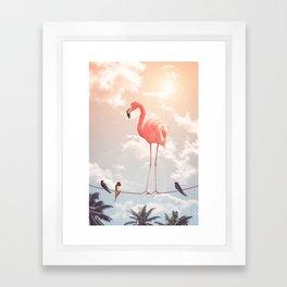 FLAMINGO & FRIENDS Framed Art Print