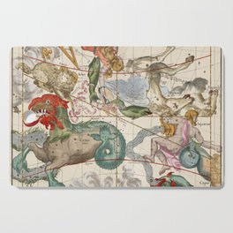 Vintage Constellation Map - Star Atlas Cutting Board