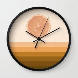 #01#Lemon landscape Wall Clock