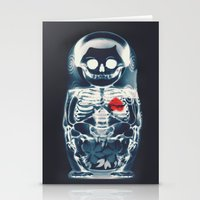 doll Stationery Cards featuring Nesting Doll X-Ray by Ali GULEC