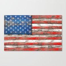 USA Vintage Wood Canvas Print