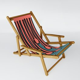 Running to you Living Coral Sling Chair