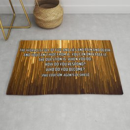 Who do you become? Phil Coulson Rug