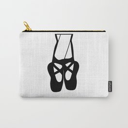 Black Ballet Shoes En Pointe Silhouette Illustration Carry-All Pouch