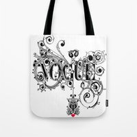 vogue Tote Bags featuring Vogue by Beauti Asylum