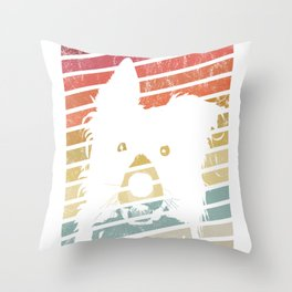 Vintage Border Collie Lover Retro Dog Breed Gift graphic Throw Pillow