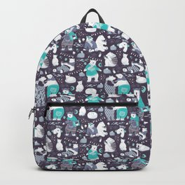 Arctic bear pajamas party Backpack