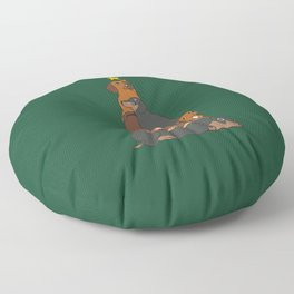Christmas Tree Dachshund Floor Pillow