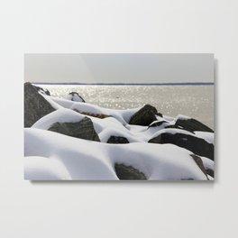 I Love Snow-Winter Series  Metal Print