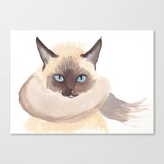 Winter Cat Canvas Print
