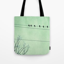 Birds on a Wire, no. 7 Tote Bag
