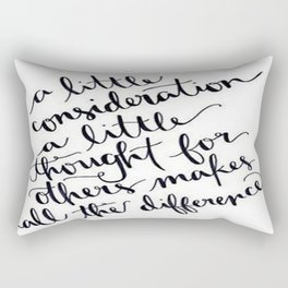 A Little Thought Makes All The Difference Rectangular Pillow