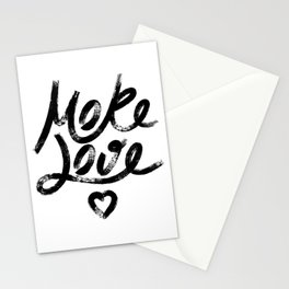 More Love. Hand drawn lettering Stationery Cards