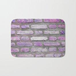 Venetian Bricks in Pink and Lavender Bath Mat