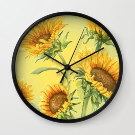 Sunflowers 2 Wall Clock