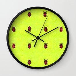 Ladybird March Wall Clock
