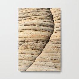 Rock Formation Close - Up Metal Print
