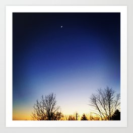 Moon Sunset Art Print