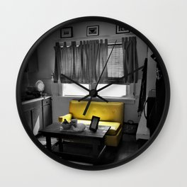 Kitchen Couch, Yellow Wall Clock